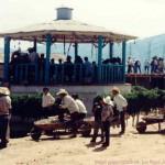 Kiosco viejo en el centro de Tlahuitoltepec